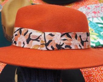 Hat Fedora color brick