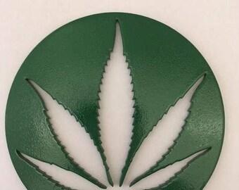 Pot Leaf Magnets Green (circle)