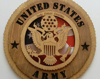 United States Army wood sign