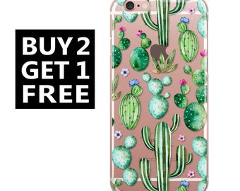 Rubber iPhone Case,Clear Samsung Galaxy Case,iPhone 6 Case,iPhone 6s Case, iPhone 7 Case,iPhone 7 Plus,samsung,Galaxy S7 Case,Cactus,6