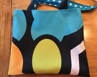 Blue Green Dot Market Bag