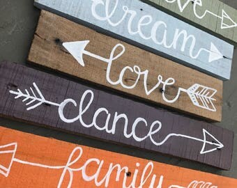 Rustic wooden sign. Handmade wall art. Quote, love sign