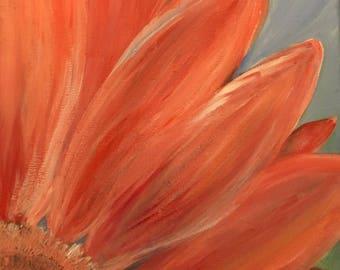 Summer Joy, Gerber Daisy, Acrylic on Canvas
