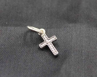 Authentic Pandora s925 Sterling Silver  Symbol of Faith Cross Dangle 791310CZ