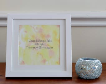 Framed motivational print