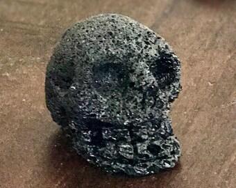 Lava Rock Skull Carving.