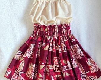 kids hawaiian pa'u hula skirt, girls hawaiian outfit,hawaiian toddler skirt, kids hula / luau costumes, 2 piece set hula skirt,size 4t,5,6,7
