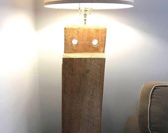 Barn beam floor lamp