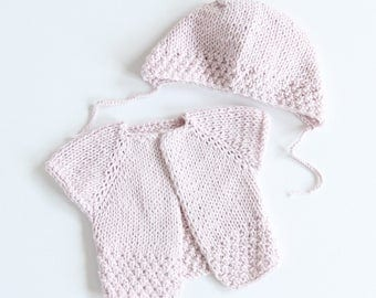 Cardigan with cap for 30-35 cm doll