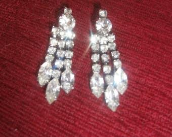 Vintage Diamante Earrings