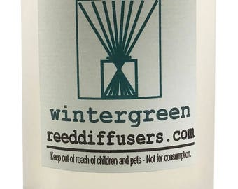 8 oz Wintergreen Fragrance Reed Diffuser Oil Refill - Made in the USA