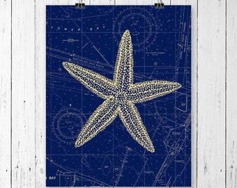 Starfish Print,  Starfish Art, Starfish Decor, Marine Decor, Marine Art, Nautical Art, Nautical Print, Ocean prints, Sea Prints, Ocean Art