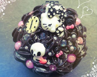 Gothic bittersweet kawaii decoden Pocket mirror brush pocketmiro