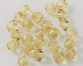 8mm Champagne Swarovski Crystals Crystal Beads Bead Supplies Gemstone Beads Craft Supplies Faceted Crystal Beads Natural Crystals Swarovski