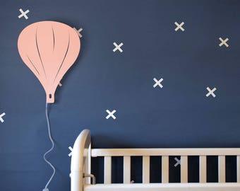 Night Lamp Air Balloon Wall Decor Kids Night Light Baby Nursery Decor Eco Friendly LED Lamp Light