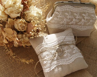 Wedding purses and ring pillow