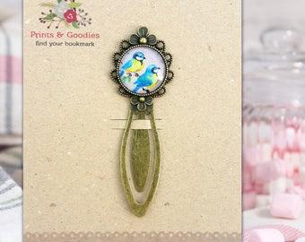 Metal bookmark, Birds lover gift, Gift for spring, Cute bookmark, Cute birds illustration, Romantic bookmark, Book mark, Handmade bookmark