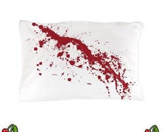 Blood Splatter Pillow Case