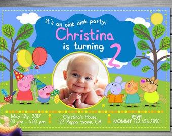 Peppa Pig Invitation, Peppa Pig Birthday, Peppa Pig Party, Peppa Pig Invites, Peppa Pig Printables, Peppa Pig Printable Movie Invite