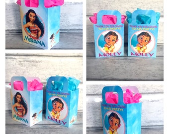 Princess baby MOANA and adult Moana Birthday Party Bag Box Personalised x 1
