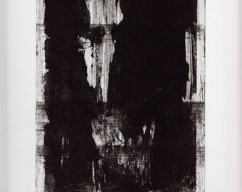 black art on paper print etching