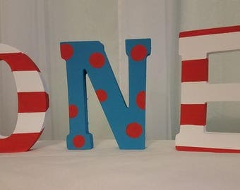 Hand Painted Letters - 1st Birthday