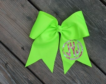 Monogram Bow | Monogram Cheer Bow | Monogram Sports Bow | Little girl Bow | Soccer Bow | Cheer Bow | Basketball Bow | Stocking Stuffer