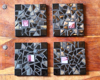 Dark Matter   Handcrafted Mosaic   Set of Four  