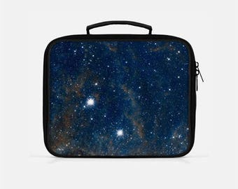 Blue Lunch Box, Galaxy Lunch Box, Space Lunch Box, Lunch Box for Women, Adult Lunchbox, Reusable Lunch Bags, Lunchboxes, Lunch Bag Insulated