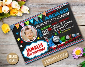Thomas Train Invitation / Thomas Train Virthday / Thomas Train Birthday Invitation / Thomas Train Party / Thomas Train Printable-024