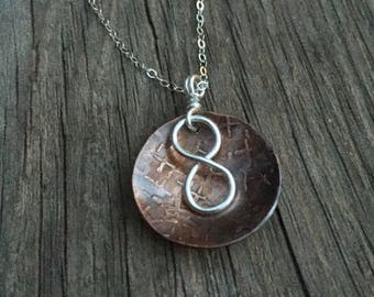 Copper and Sterling necklace
