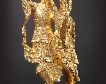 Celestial Angels - Wood and Gold Lacquer