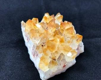Citrine Druzy Cluster Clear Yellow/Orange Crystal - 1049