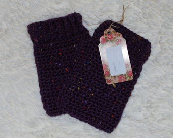 Ladies crochet fingerless gloves