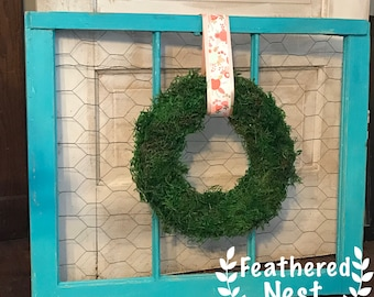 Vintage Window with Chicken Wire-local pick up only