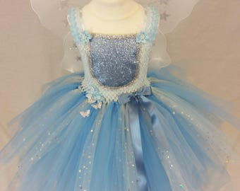 Tutu dress, woodland dress, fairy tutu, Princess tutu, woodland fairy, fairy dress, periwinkle dress, pixie dress, elf, flower girl dress