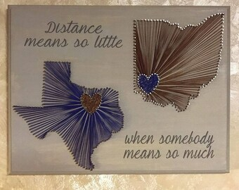 Custom Distance Nail & String Board