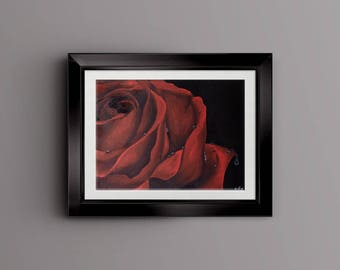 Crimson, Original Oil Painting