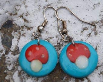 Mushroom - Toadstool earrings