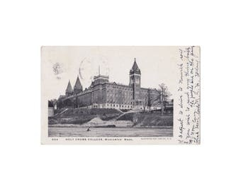 College of the Holy Cross - Worcester, Massachusetts -  Vintage UDB Postcard,  1908 Cancel