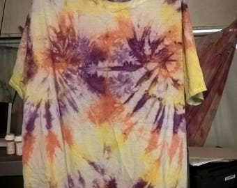 Purple Orange and Yellow Double swirl