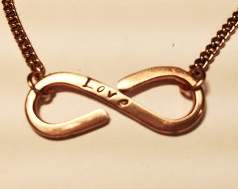 Personalized Custom Copper Infinity Necklace, Great Gift