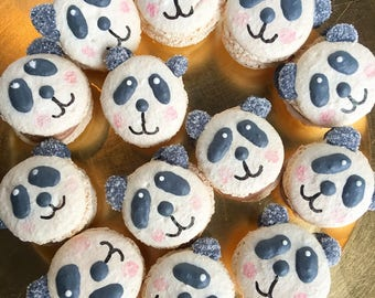 Half Dozen Panda Macarons