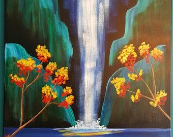 Autumn Aloha Tropical Waterfall