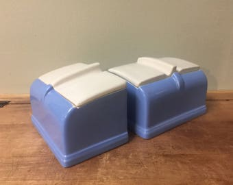 Pair Of VINTAGE Coldspot Refrigerator Dishes By Hall China Co.