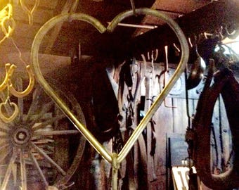 hand forged dinner bell - heart shaped