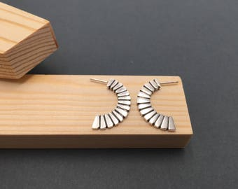Radial Sterling silver earrings