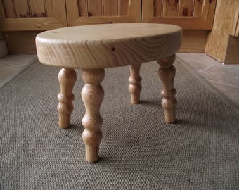 Small  Sturdy Wooden Stool.