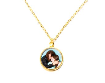 Gold plated chain with its own photo | Cabochon