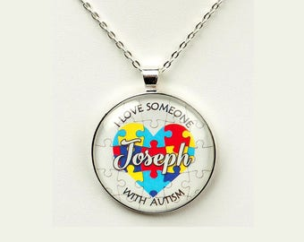 Autism Awareness Personalized I Love Heart with Name